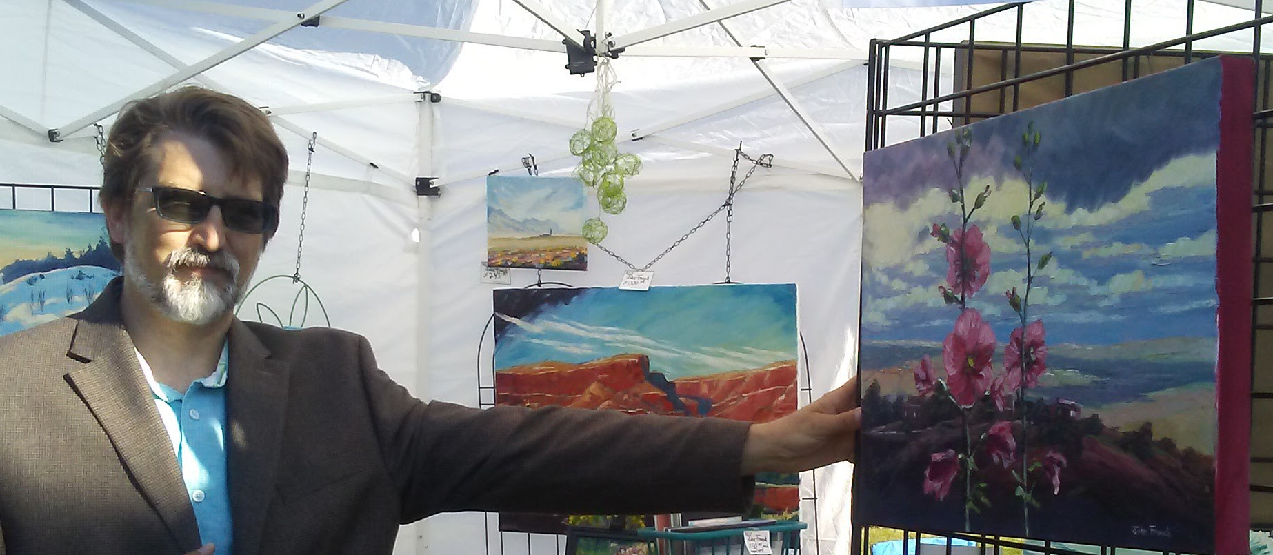 art on the rocks, about john french, art for sale