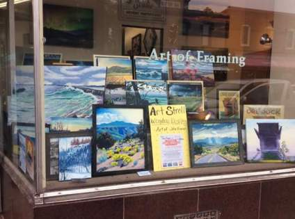 Marquette frame shop with oil paintings by John french