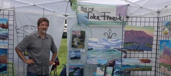 art fair, tent at art on the rocks