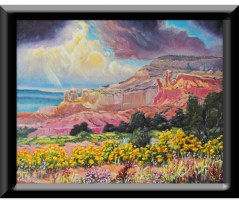 ghost Ranch Chamisa black frame11x14