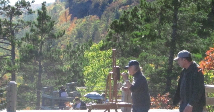 plein air painting in public