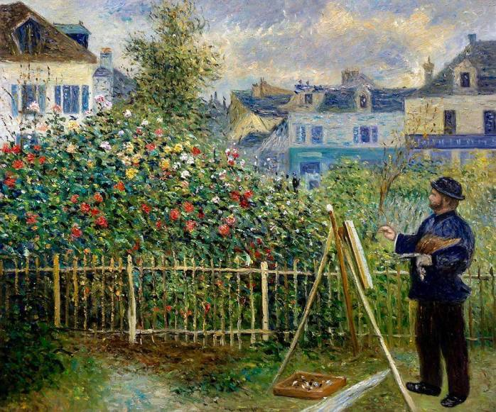 Monet painting en plein air